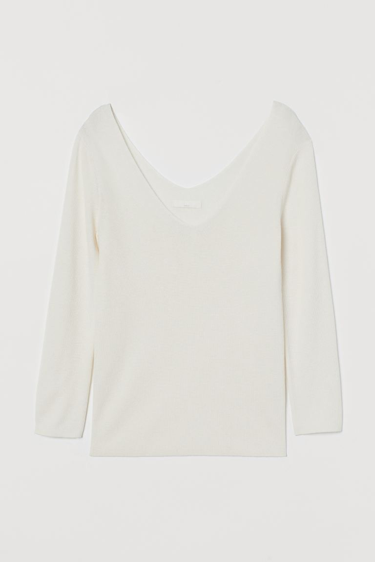 Fine Knit Sweater - Cream - Ladies | H&M AU