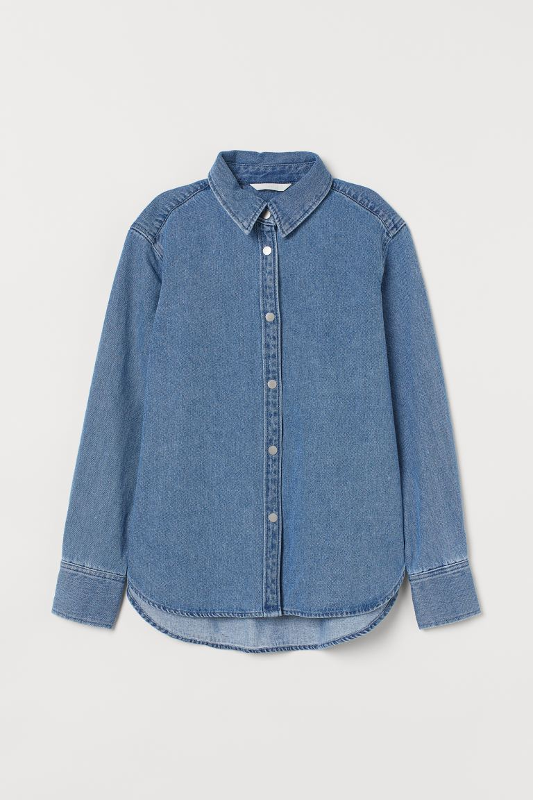 Denim Shirt Jacket - Denim blue -  | H&M US