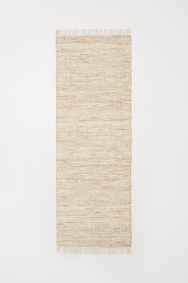Handwoven rug with jute - Beige/White - Home All | H&M GB