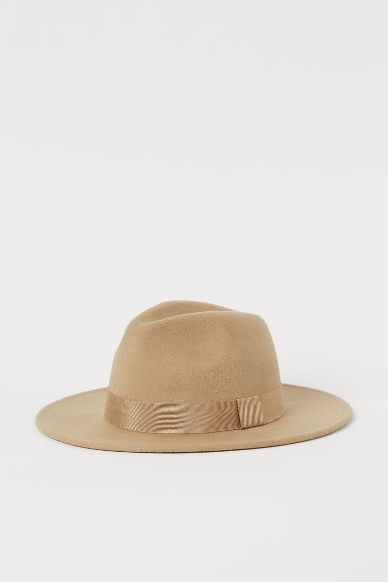Felted wool hat - Beige - Ladies | H&M IE