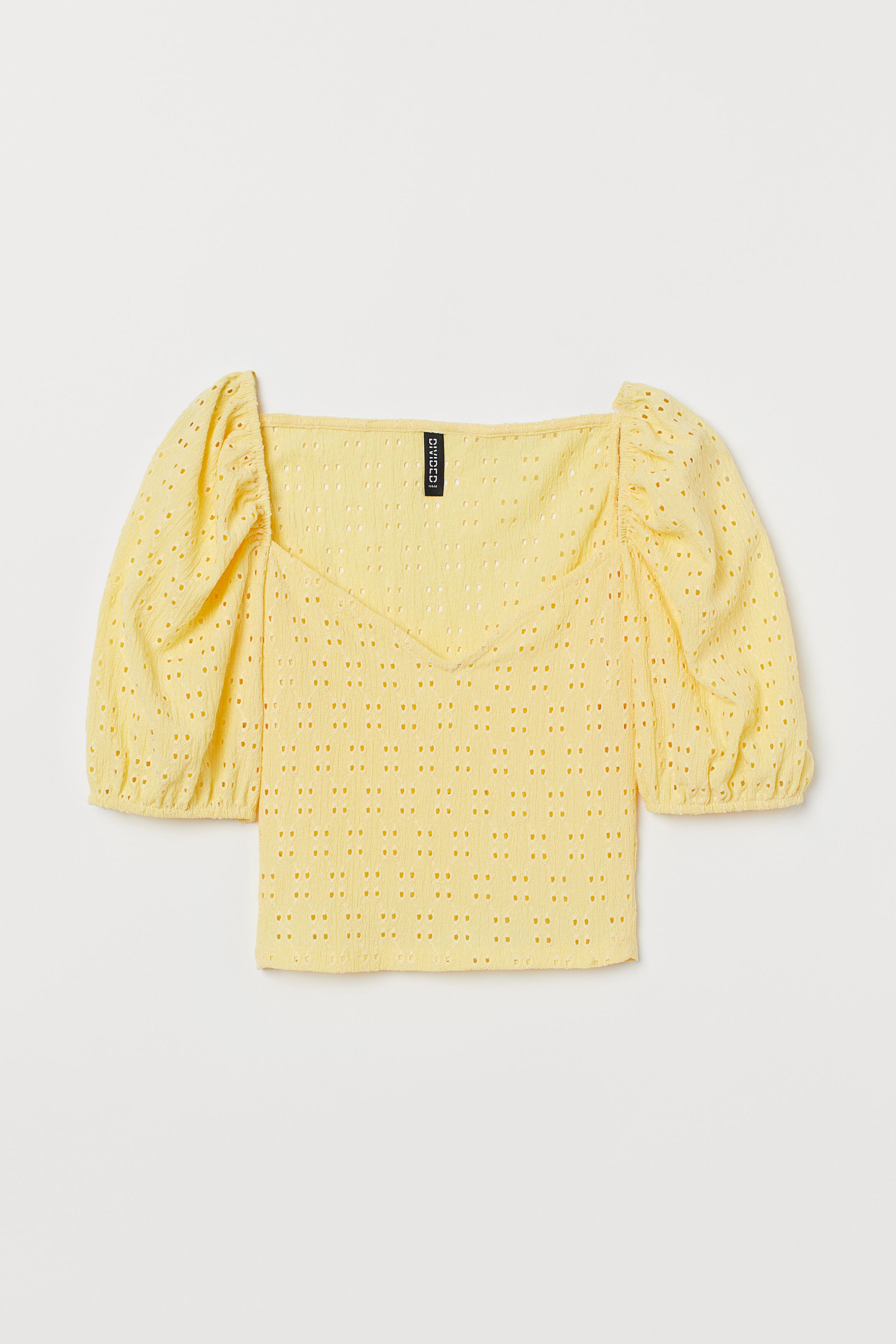 Puff-sleeved Jersey Top