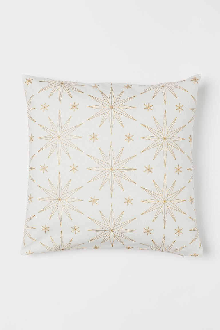 Patterned Cushion Cover - White/stars - Home All | H&M US
