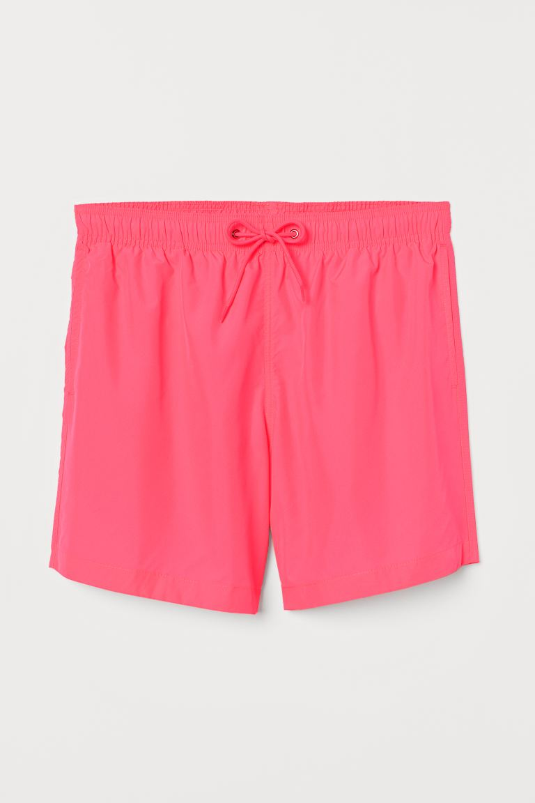 Swim Shorts - Neon pink - Men | H&M US