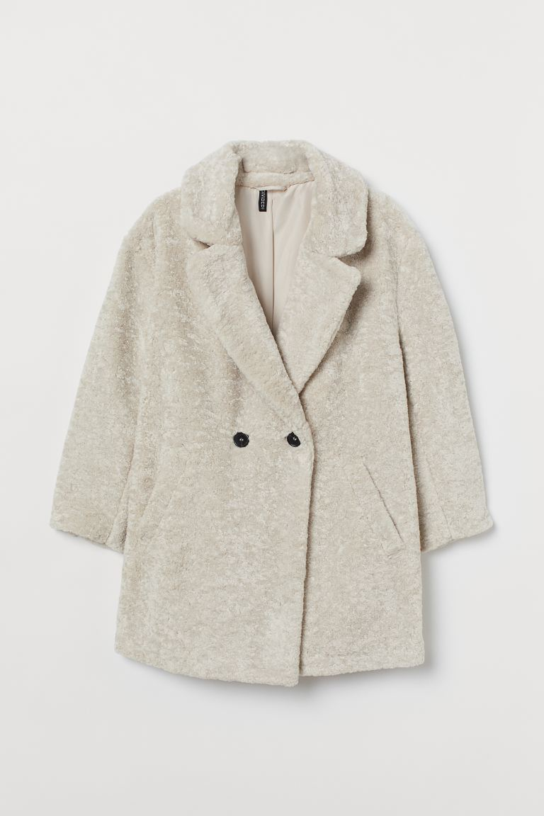 H&M+ Teddy Bear Coat - Cream - Ladies | H&M US
