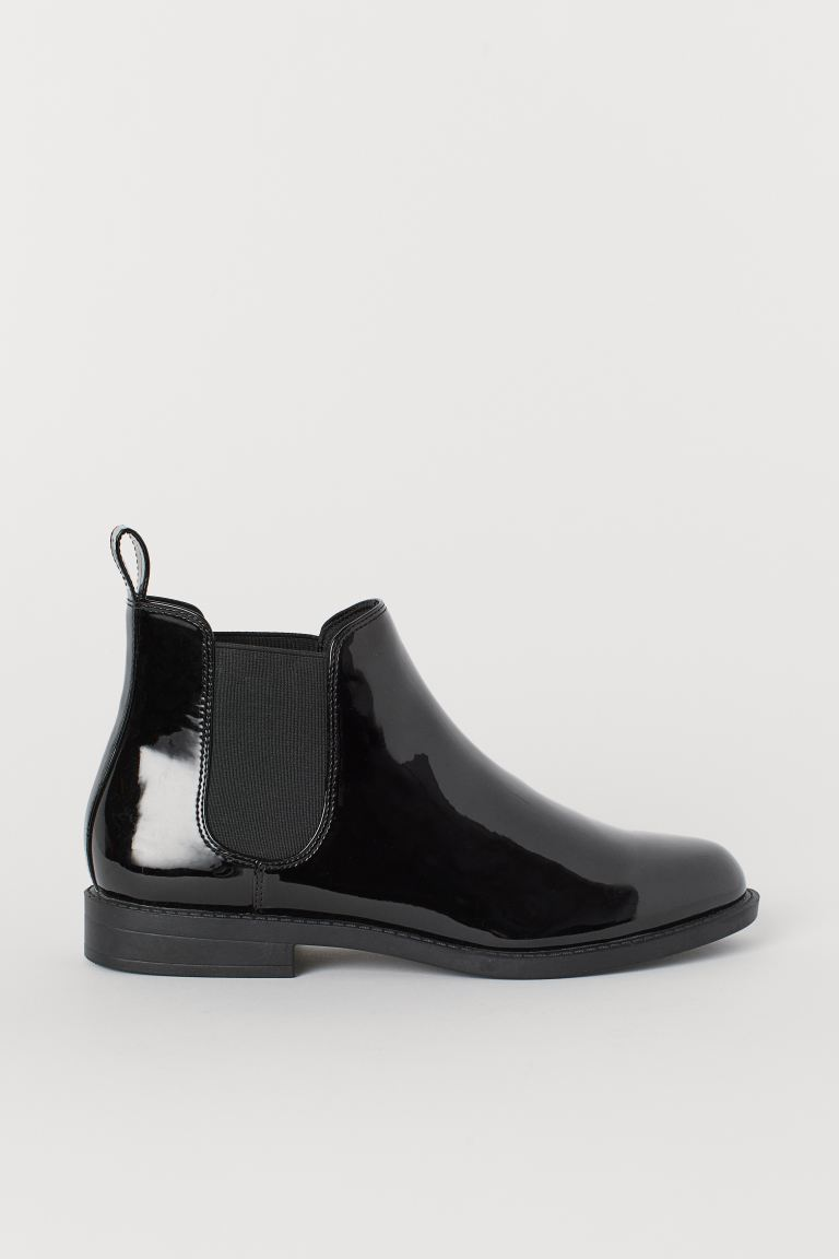 Chelsea boots - Black/Patent - Ladies | H&M