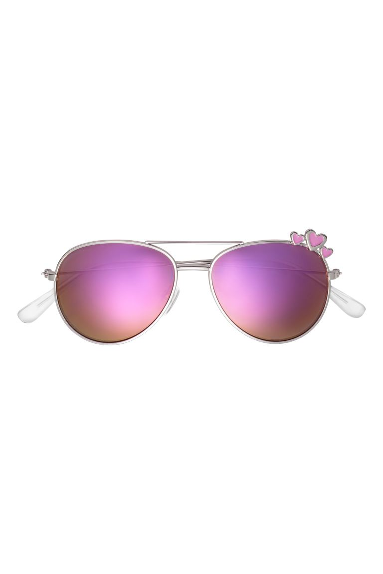 Sunglasses - Silver-coloured/Purple - Kids | H&M GB
