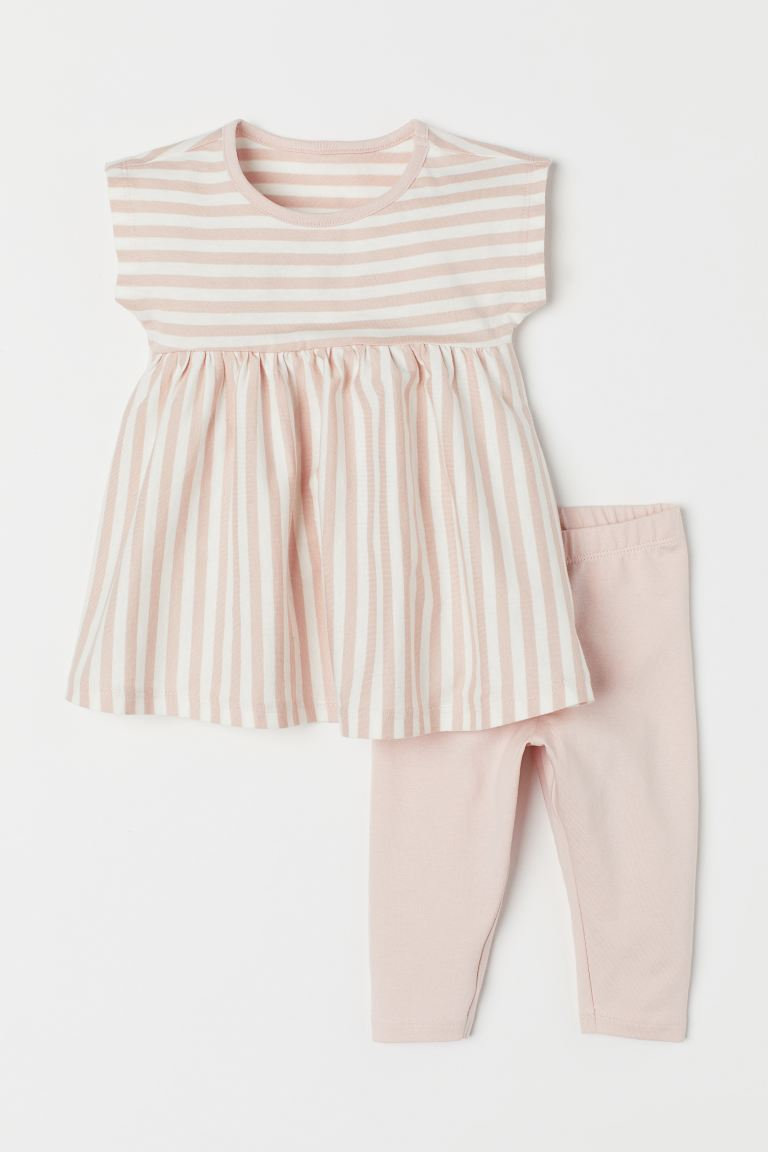Dress and Leggings - Light pink - Kids | H&M US