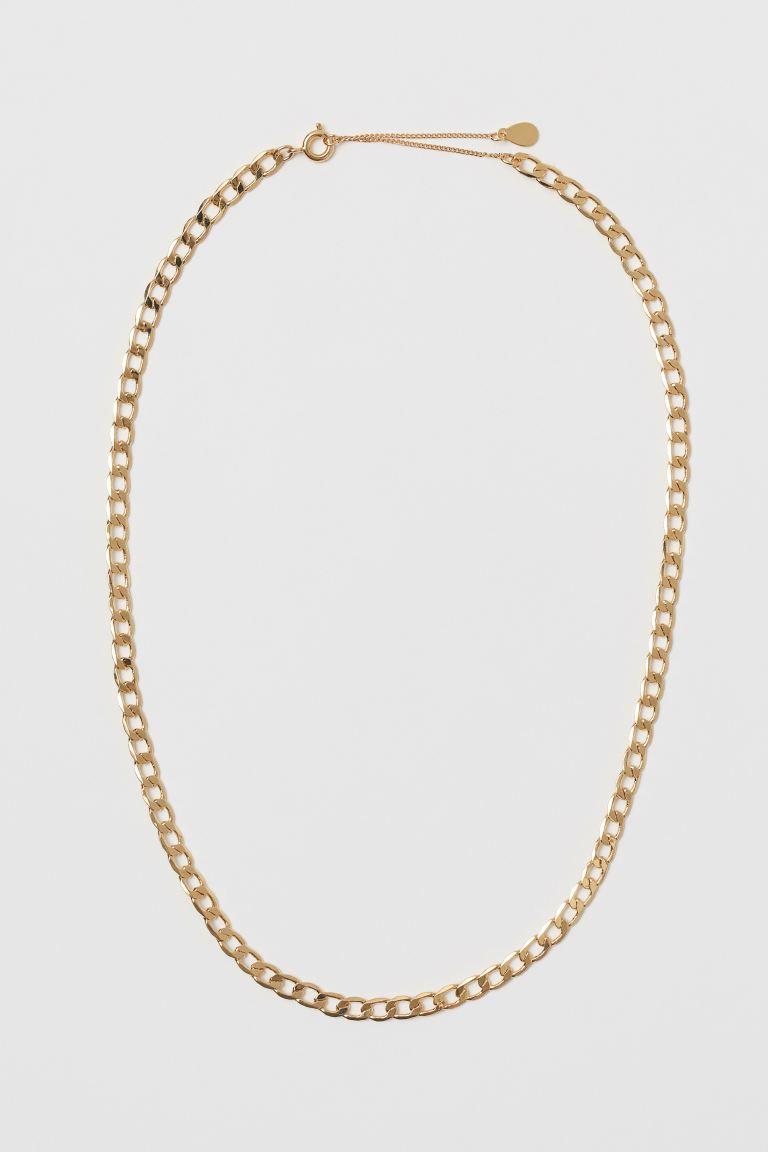Goldplattierte Halskette