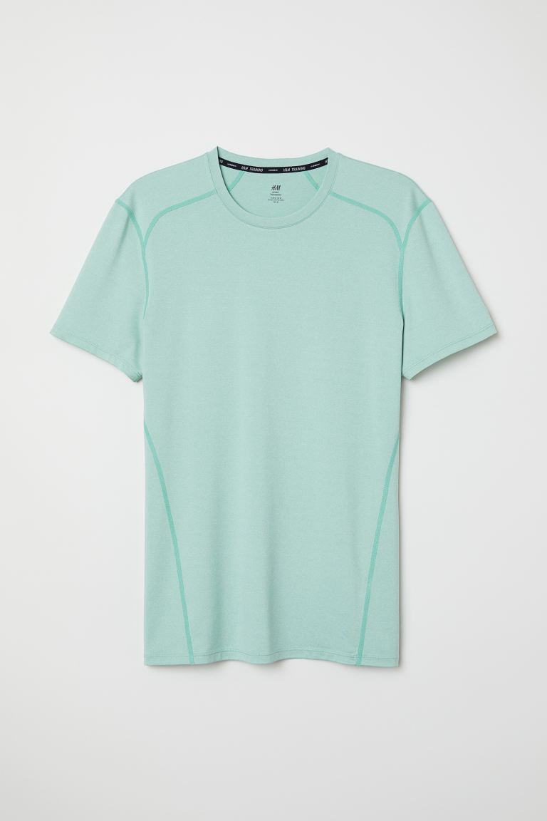 Sports top Muscle Fit - Light turquoise marl - Men | H&M