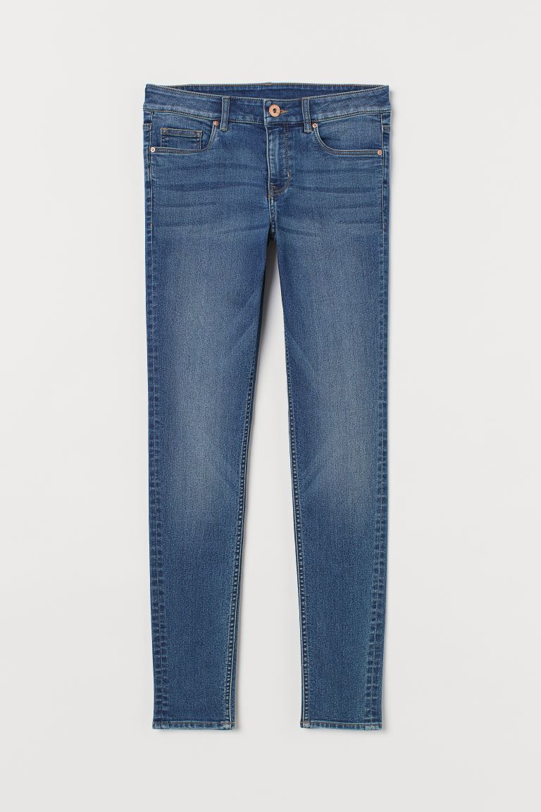 Super Skinny Regular Jeans - Dark denim blue - Ladies | H&M US