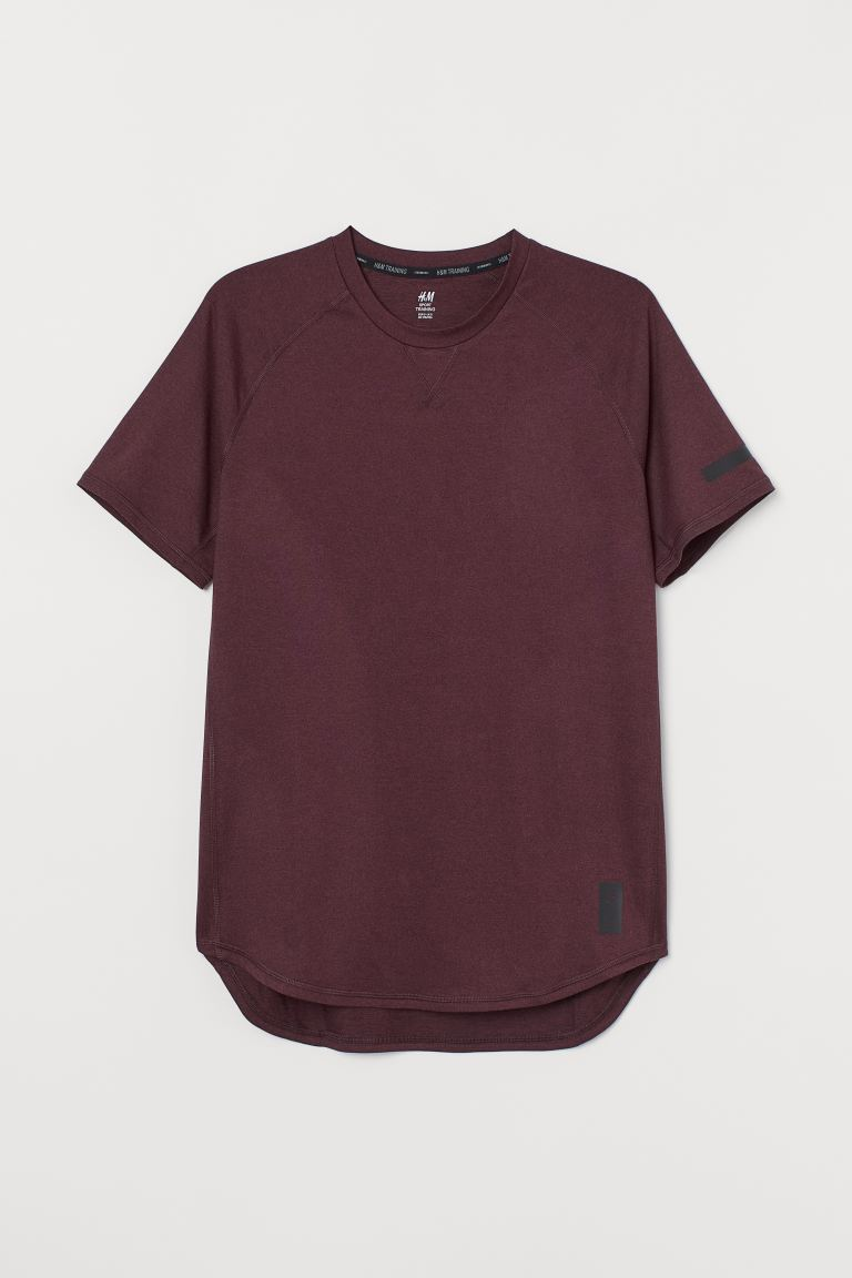 T-shirt training Loose Fit - Bordeaux - HOMME | H&M CH