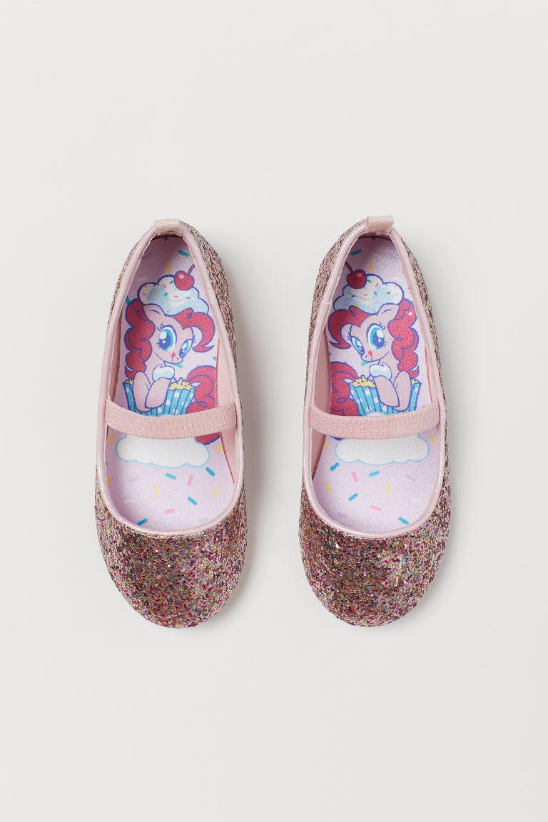 Glittery ballet pumps