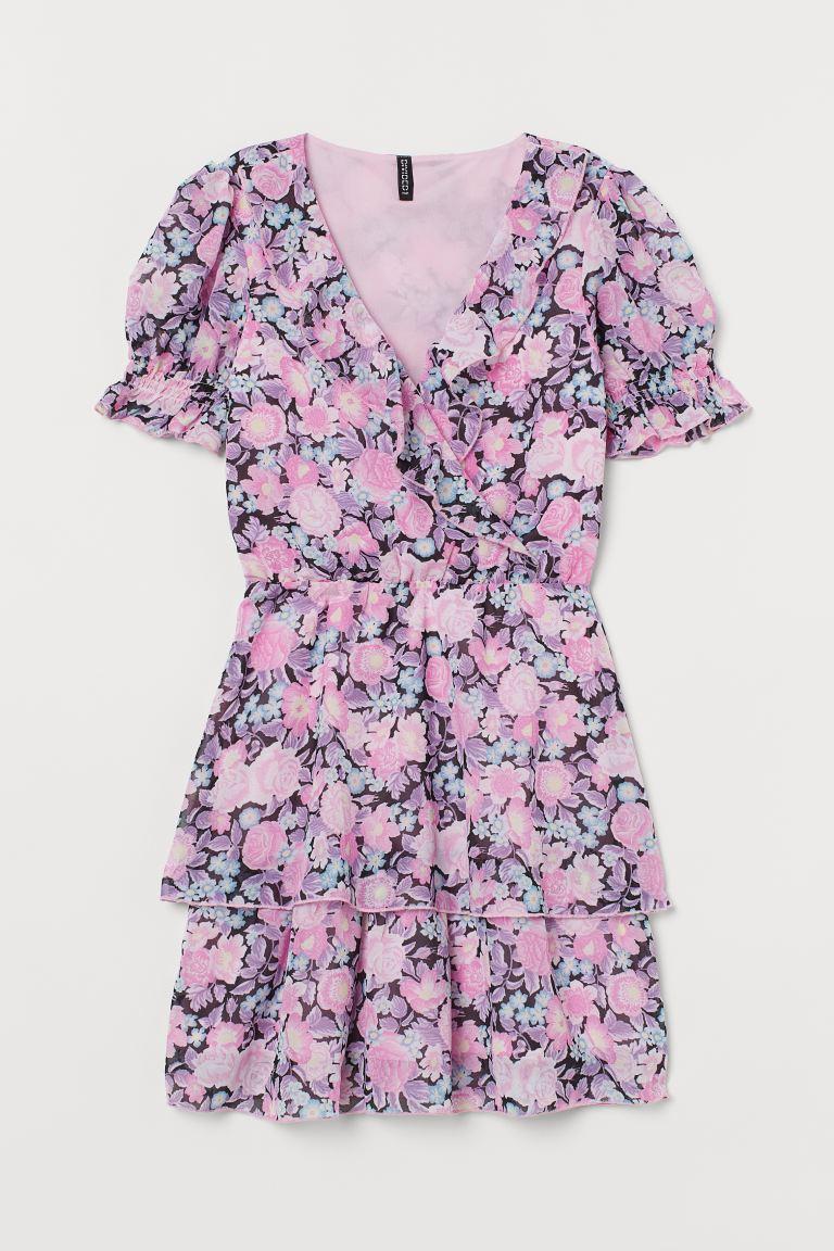Puff sleeved Ruffled Dress
