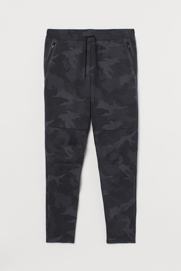 Sports joggers - Dark grey/Patterned - Men | H&M