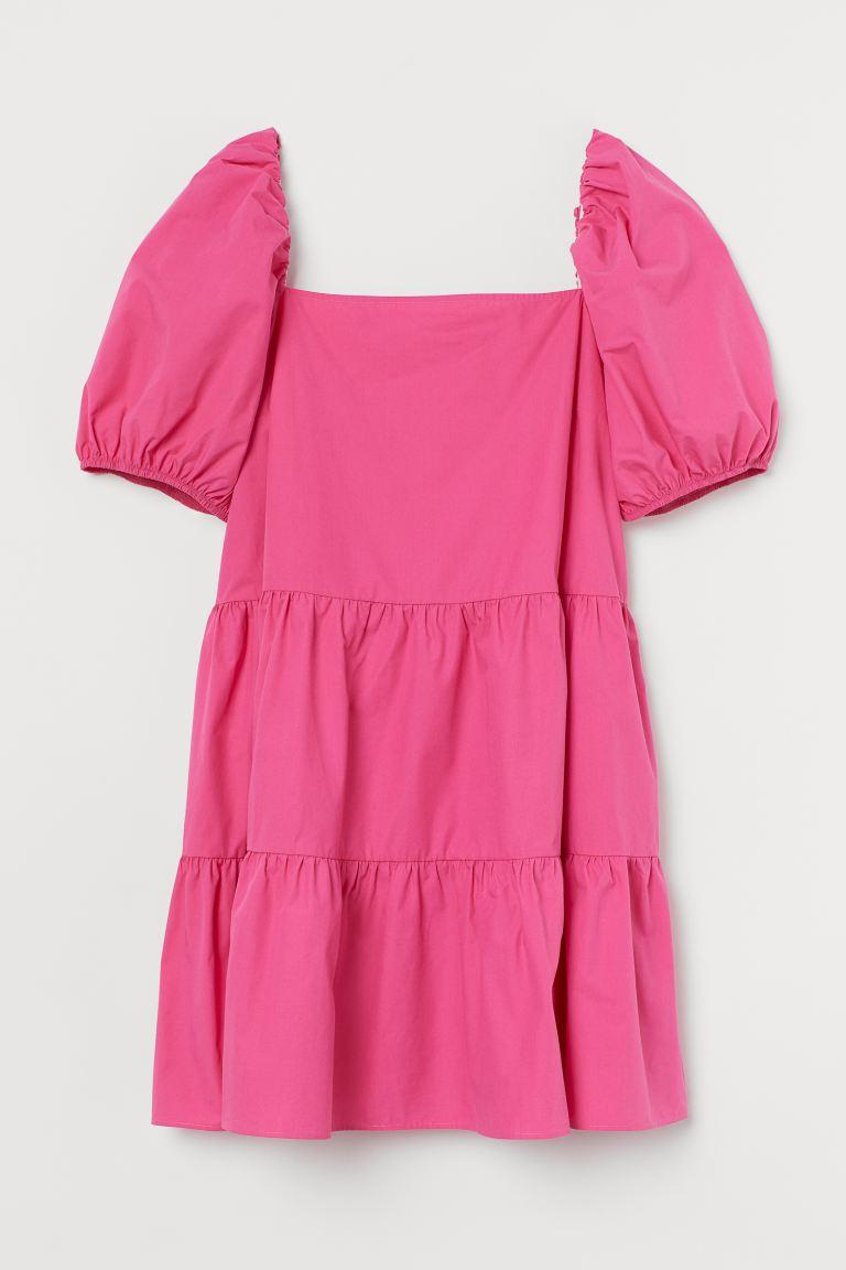 H&M Bestseller: Kleid mit Puffärmeln