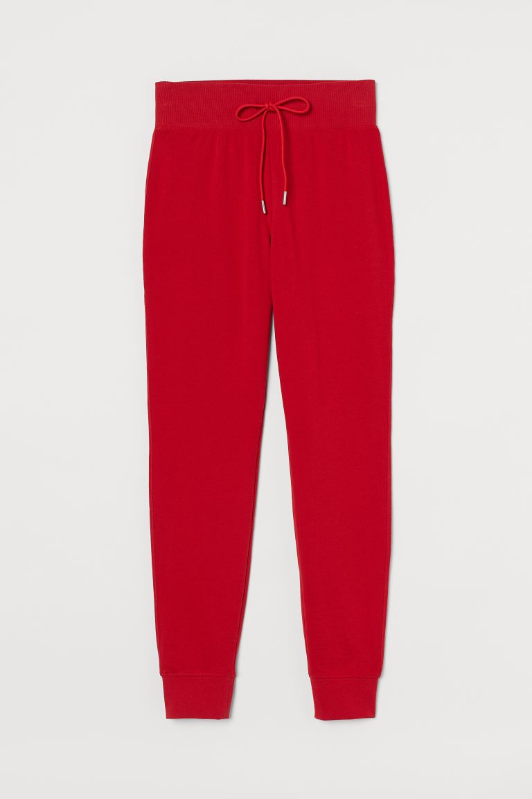 Cotton-blend joggers - Red - Ladies | H&M