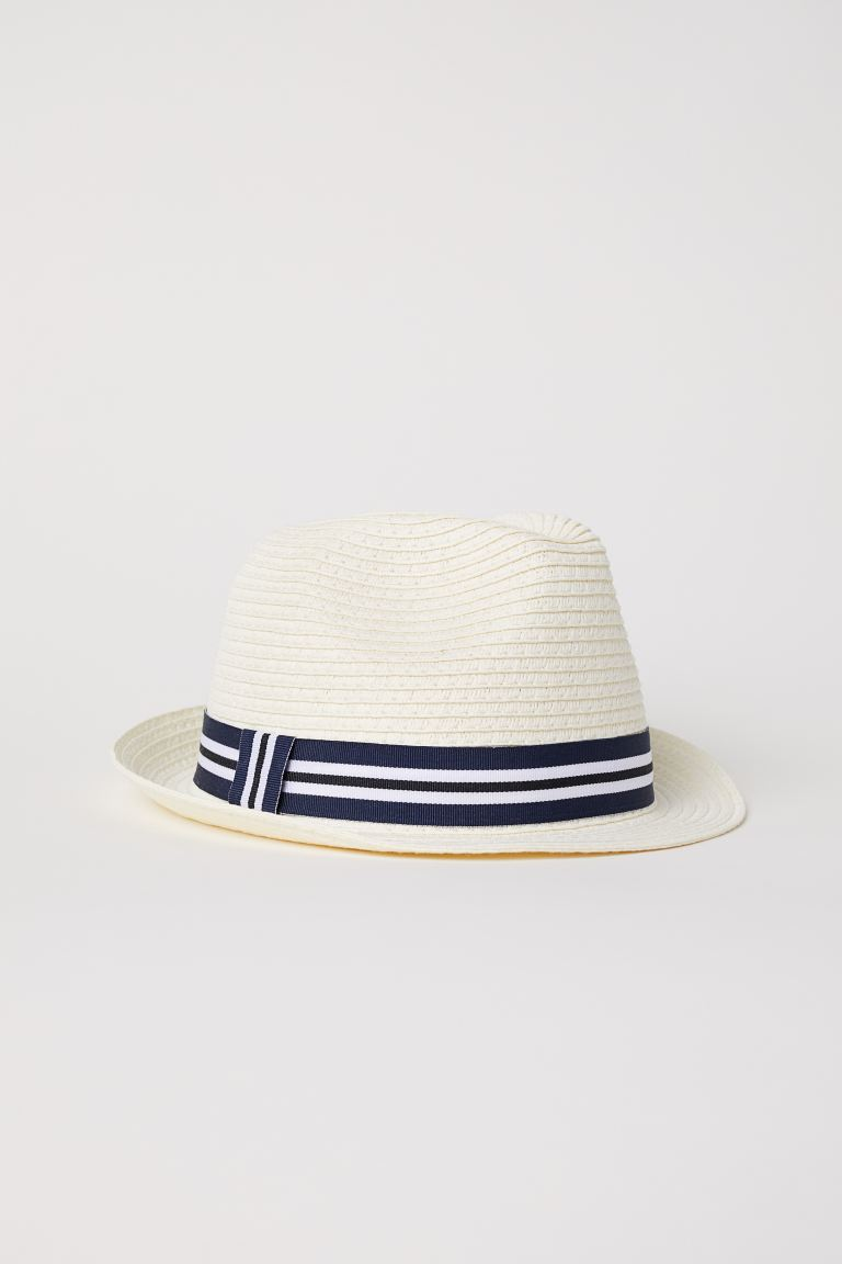 Straw hat - Natural white - Kids | H&M GB