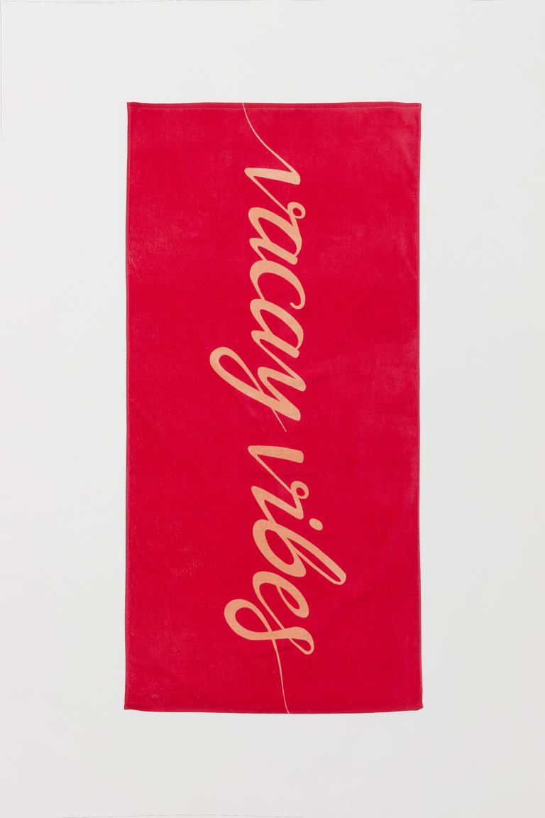 Beach towel - Cerise/Vacay Vibes - Home All | H&M GB