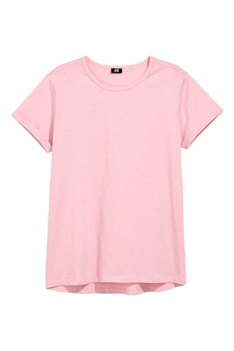 Slub jersey T-shirt - Pink - Men | H&M IN