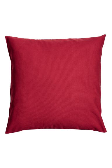Cotton canvas cushion cover - Dark red - Home All | H&M GB