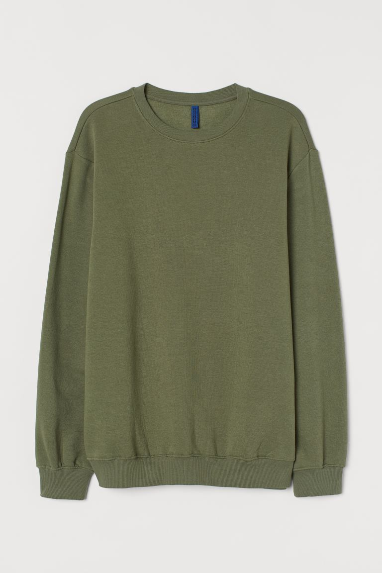 Sweater - Relaxed Fit - Licht kakigroen - HEREN | H&M NL