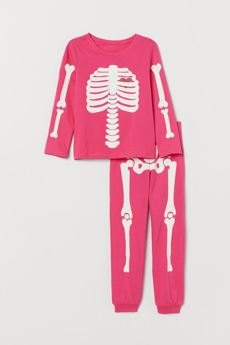Jerseypyjama - Hexenrosa/Glow in the Dark - Kids | H&M AT