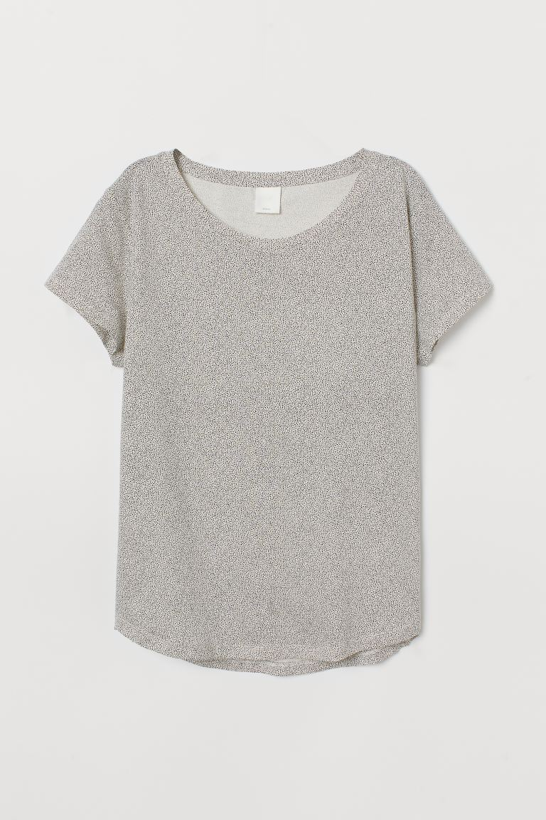 T-Shirt - Naturweiß/Schwarz gepunktet - Ladies | H&M AT