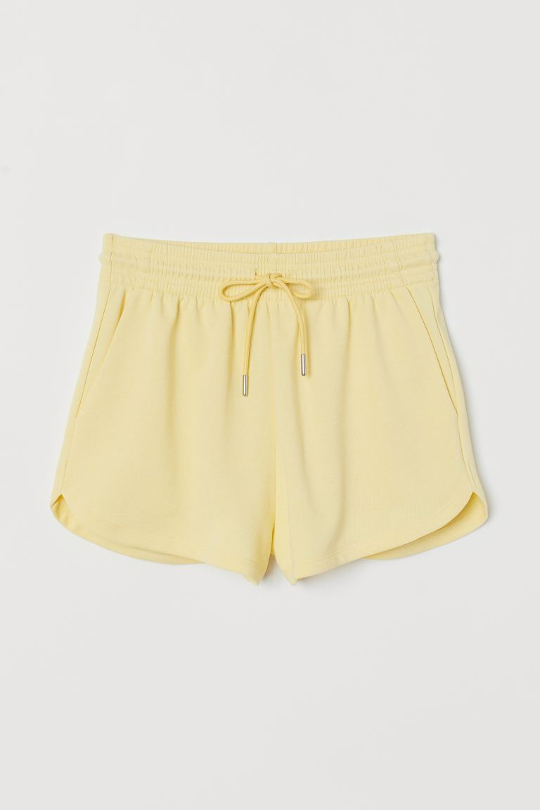 Sweat Shorts - Light yellow - Ladies | H&M AU