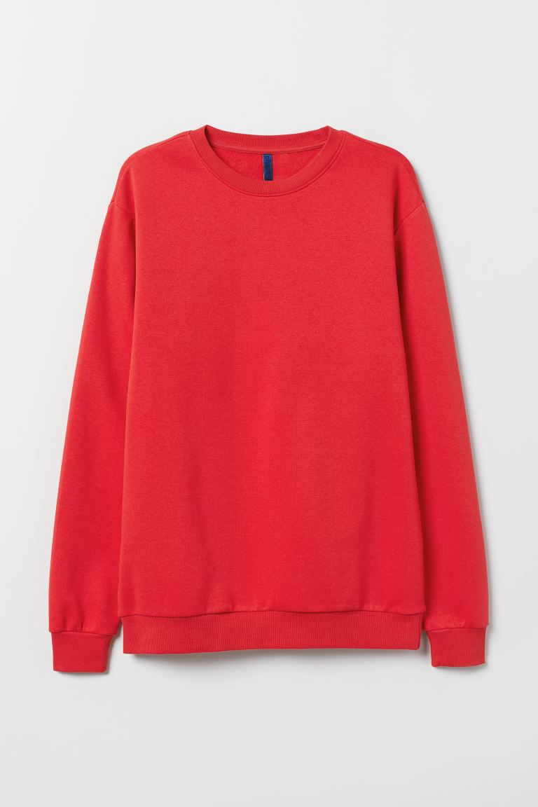 Sweater - Relaxed Fit - Rood - HEREN | H&M NL