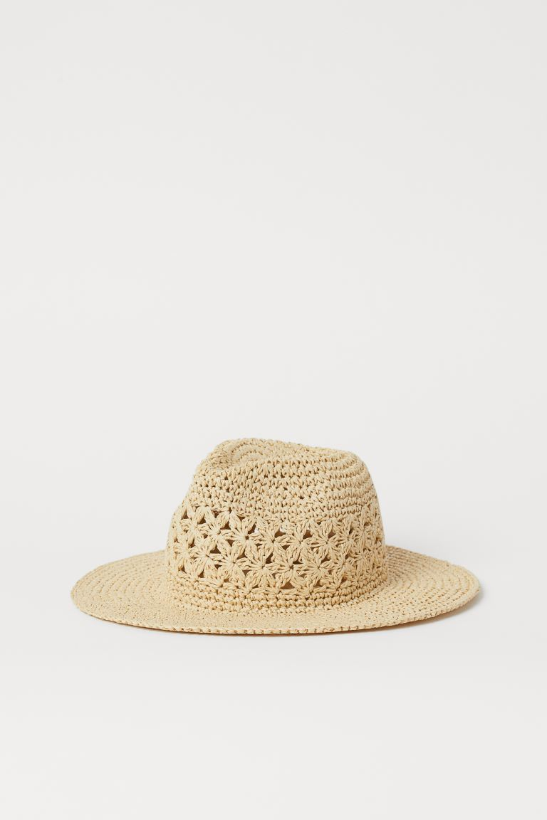 Straw hat - Light beige - Ladies | H&M GB