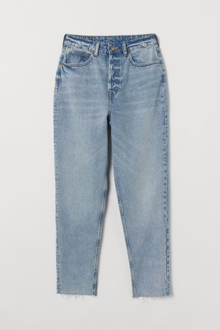 Slim Mom High Ankle Jeans - Light denim blue - Ladies | H&M US