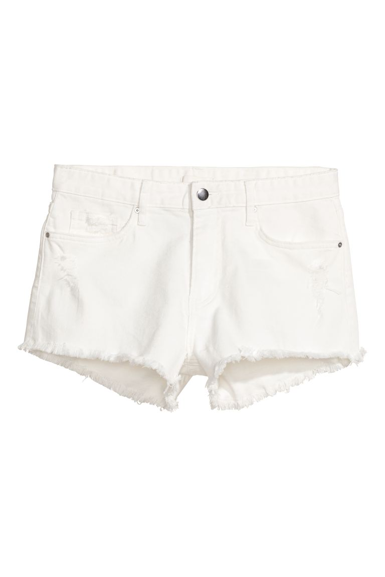 Denim shorts - White - Ladies | H&M GB