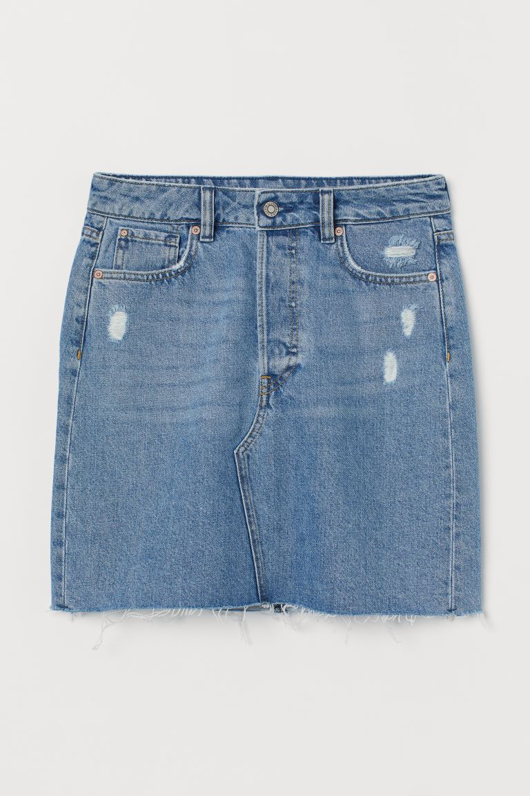 Jeansrock - Blau/Trashed - Ladies | H&M DE