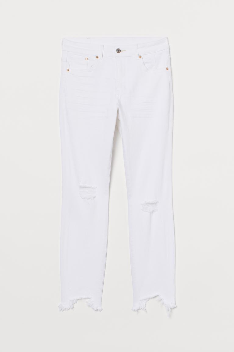 Skinny High Ankle Jeans - White - Ladies | H&M GB