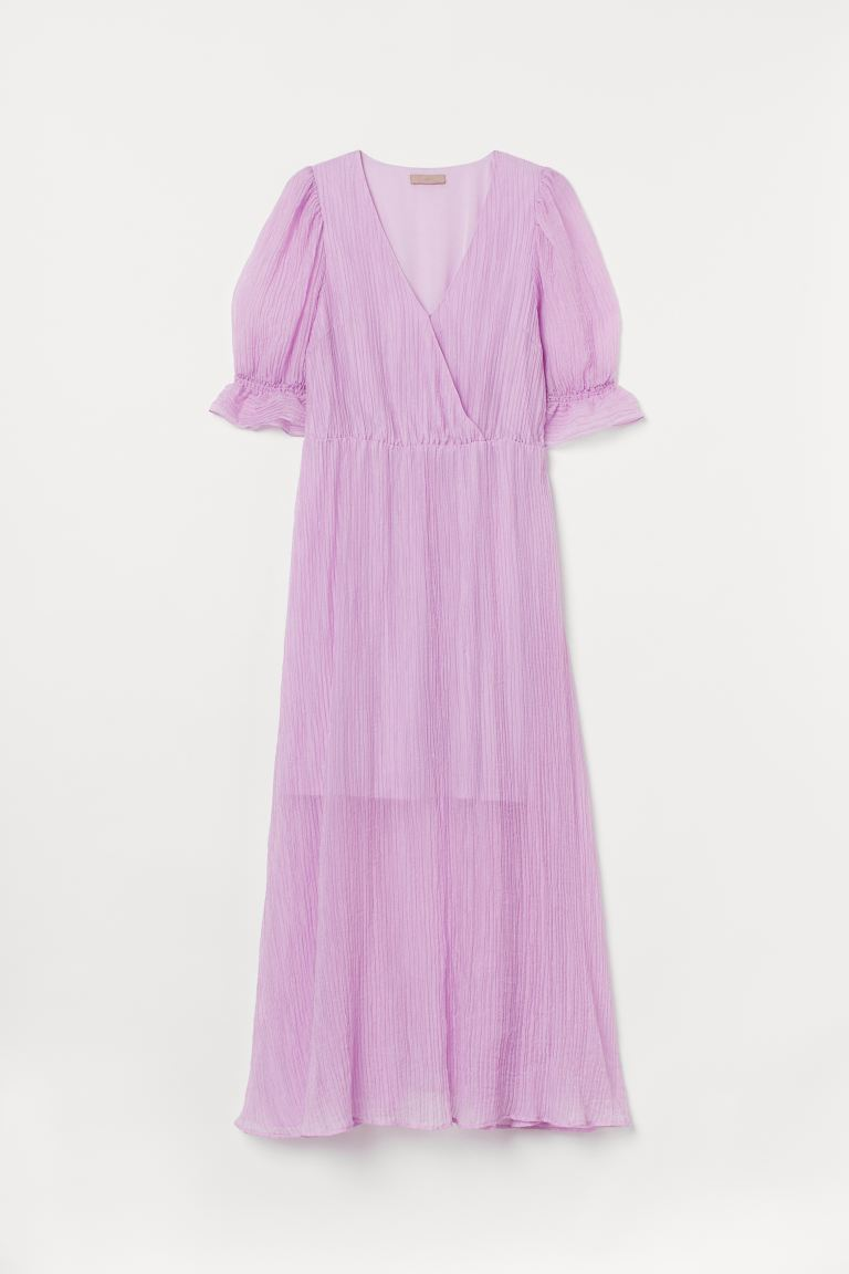 H&M+ Lyocell-blend dress - Light purple - Ladies   H&M
