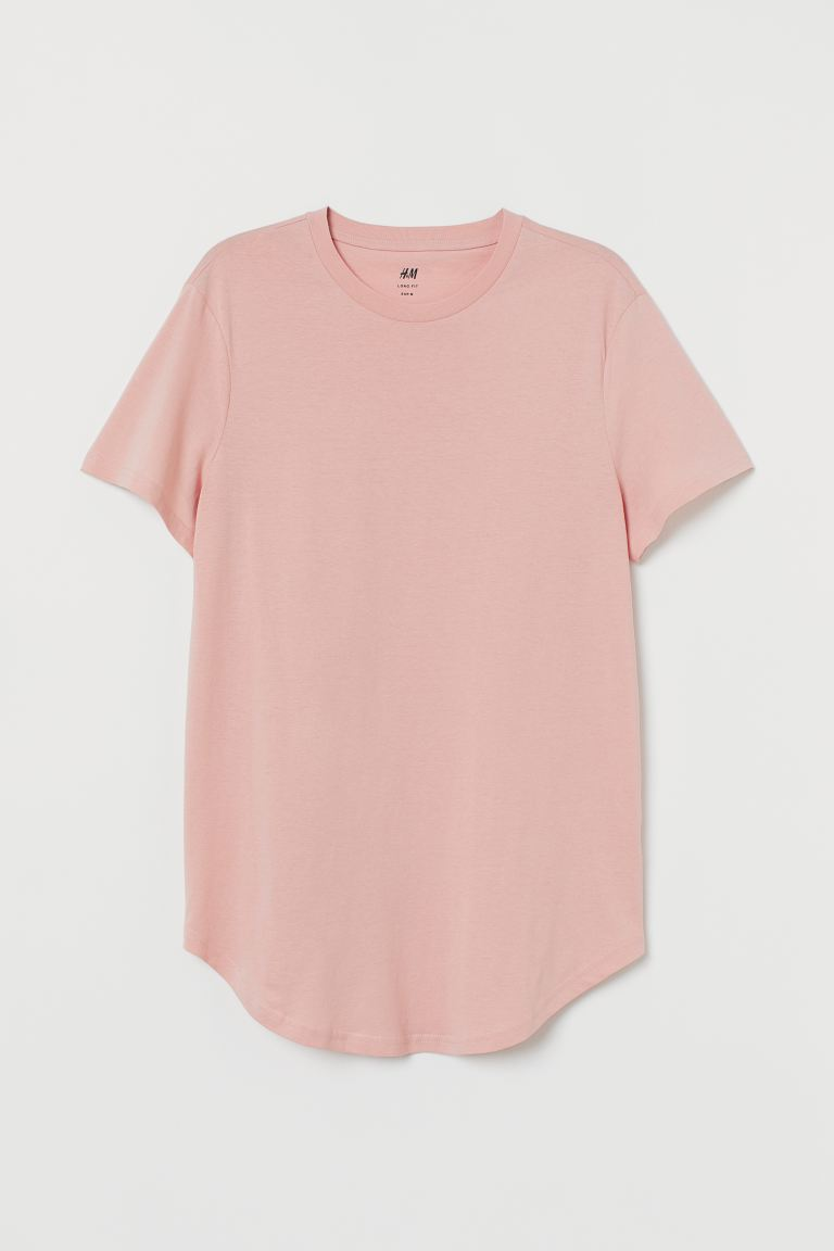 T-shirt Long Fit - Rose ancien - HOMME | H&M FR