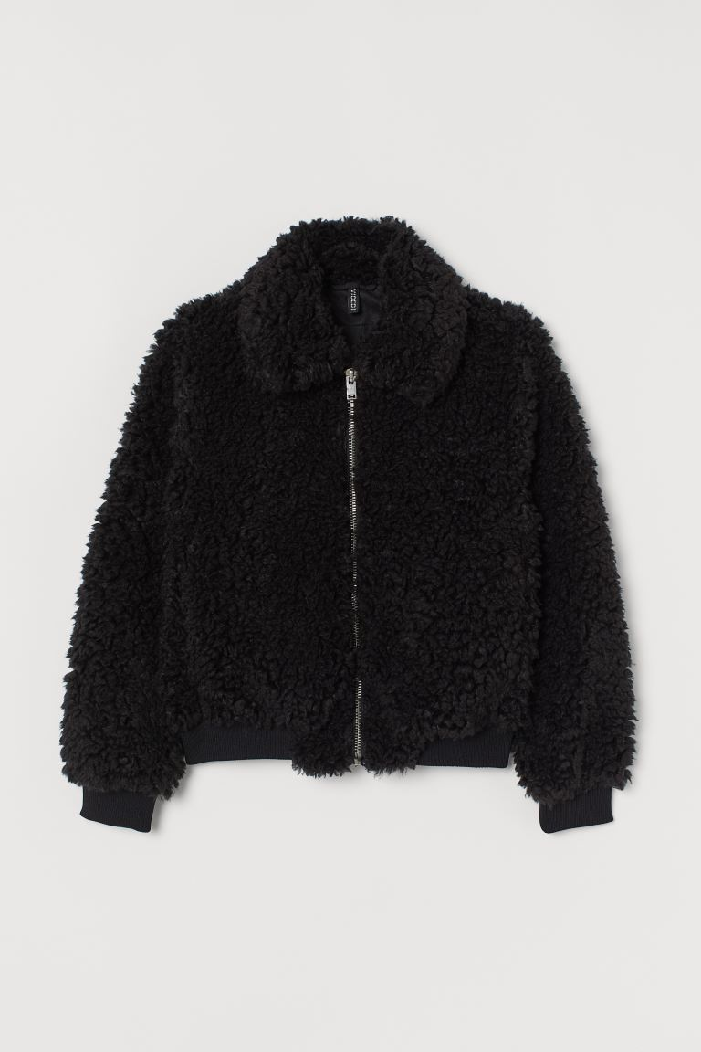 Faux fur jacket - Black - Ladies | H&M GB