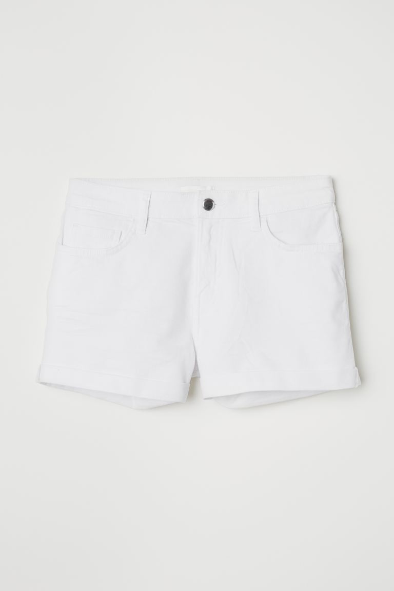 Short Twill Shorts - White - Ladies | H&M US