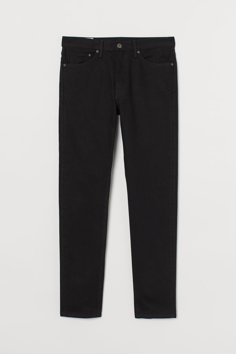 Slim Straight Jeans - Zwart - HEREN | H&M BE