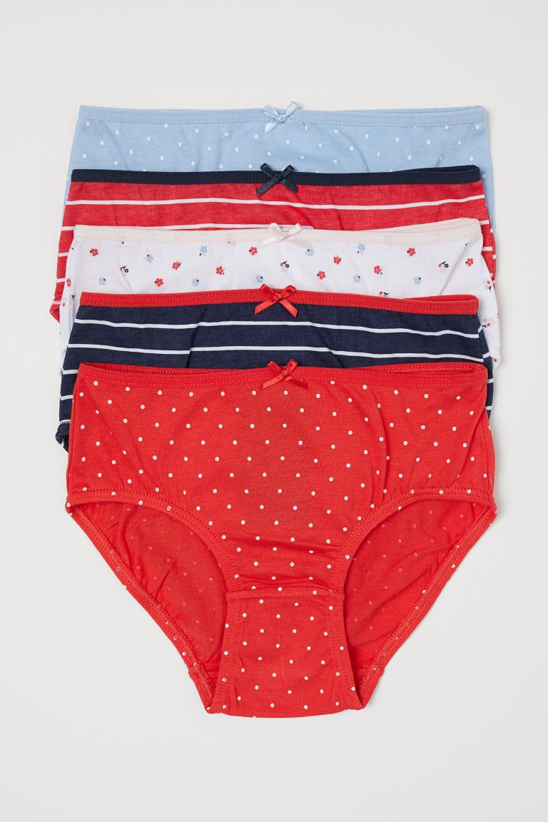 5-pack cotton briefs - Red/Striped - Kids | H&M
