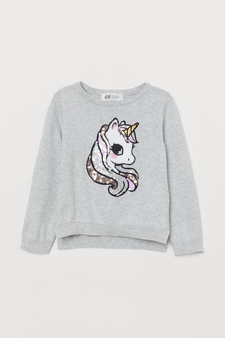 Sequin-motif jumper