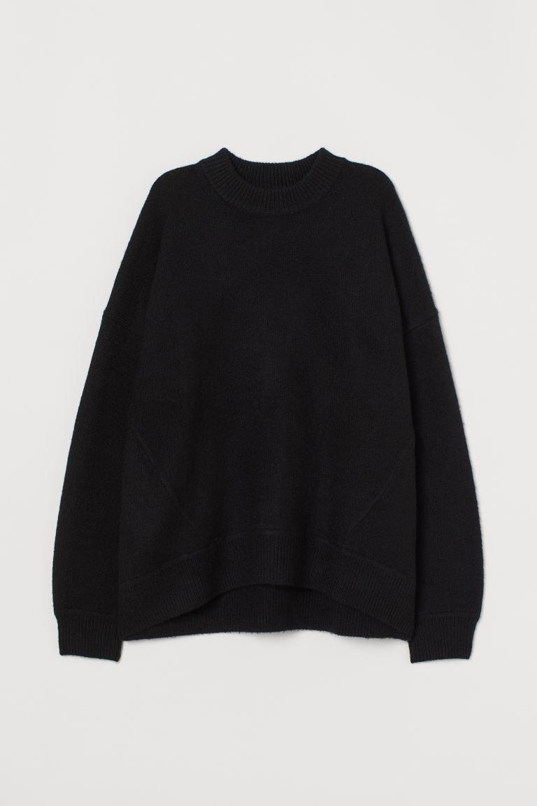 distorsionar resbalón alineación  Suéter oversized - Negro - Ladies | H&M MX