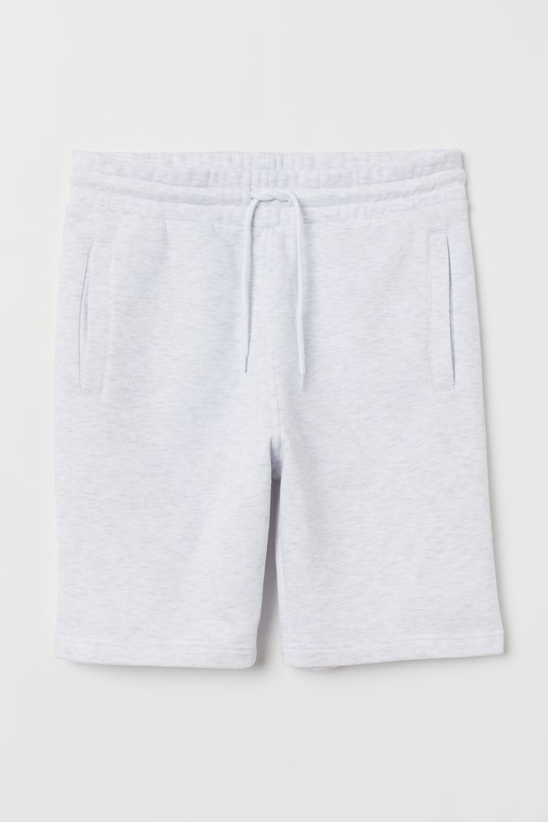 Sweatshirt shorts Regular Fit - Light grey marl - Men | H&M GB