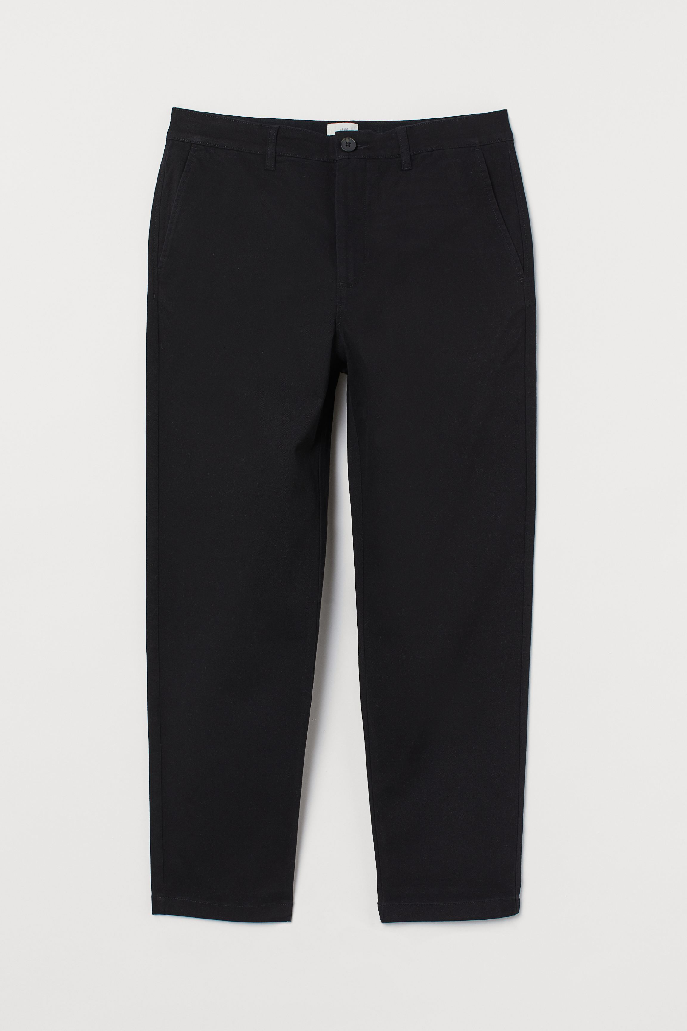 Slim Fit Cropped Chinos