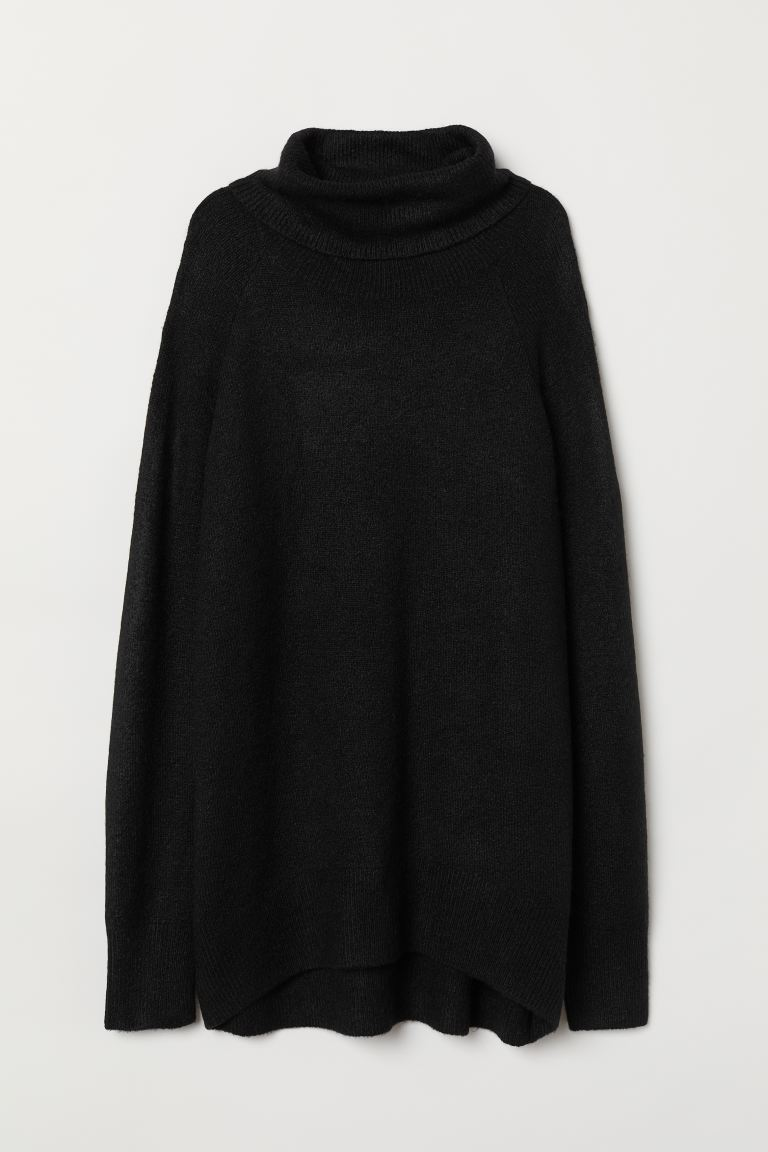 Knit Turtleneck Sweater - Black - Ladies | H&M US