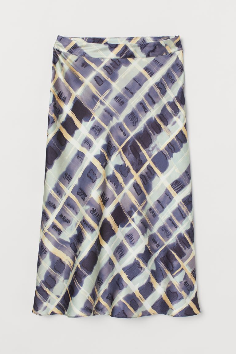 Satin Skirt - Purple/patterned - Ladies | H&M US