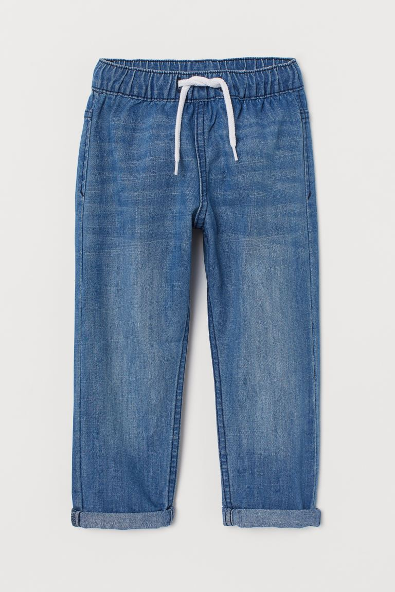 Denim Joggers - Denim blue - Kids | H&M US