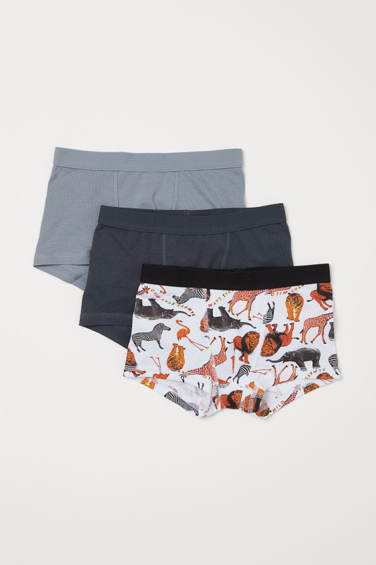 3-pack boxer shorts - White/Animals - Kids | H&M