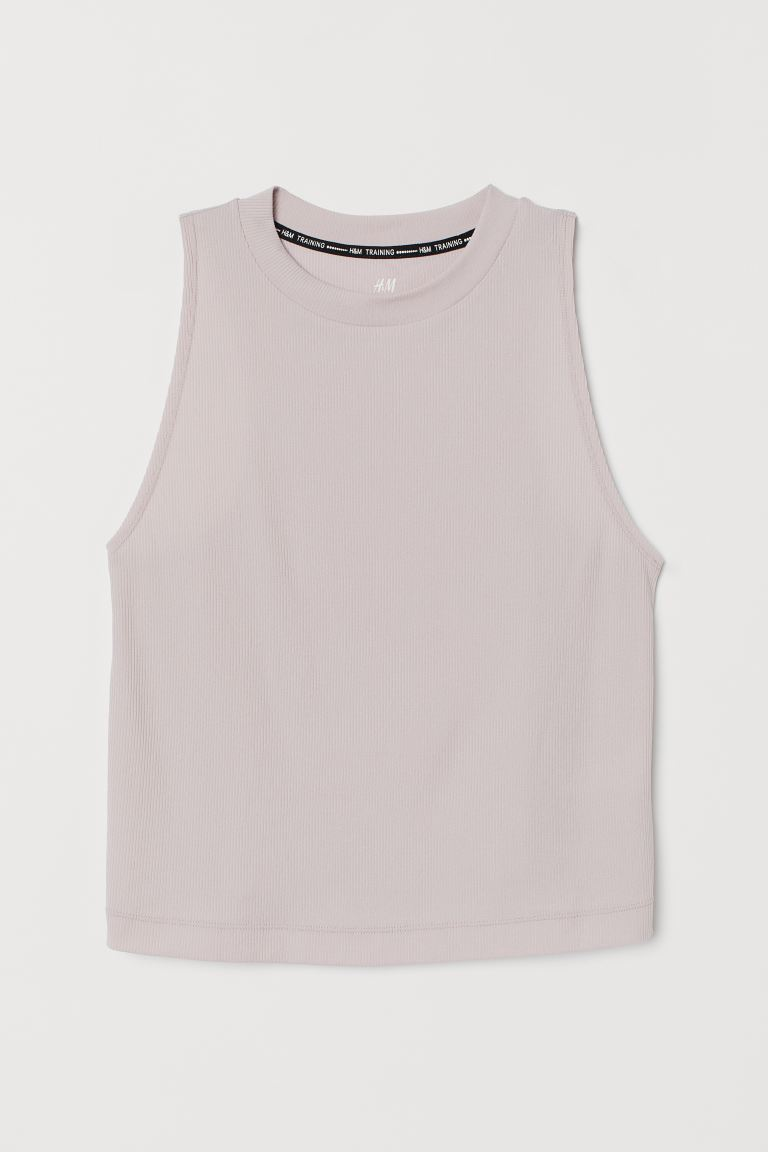 Geripptes Sport-Tanktop - Hellrosa - Ladies | H&M AT