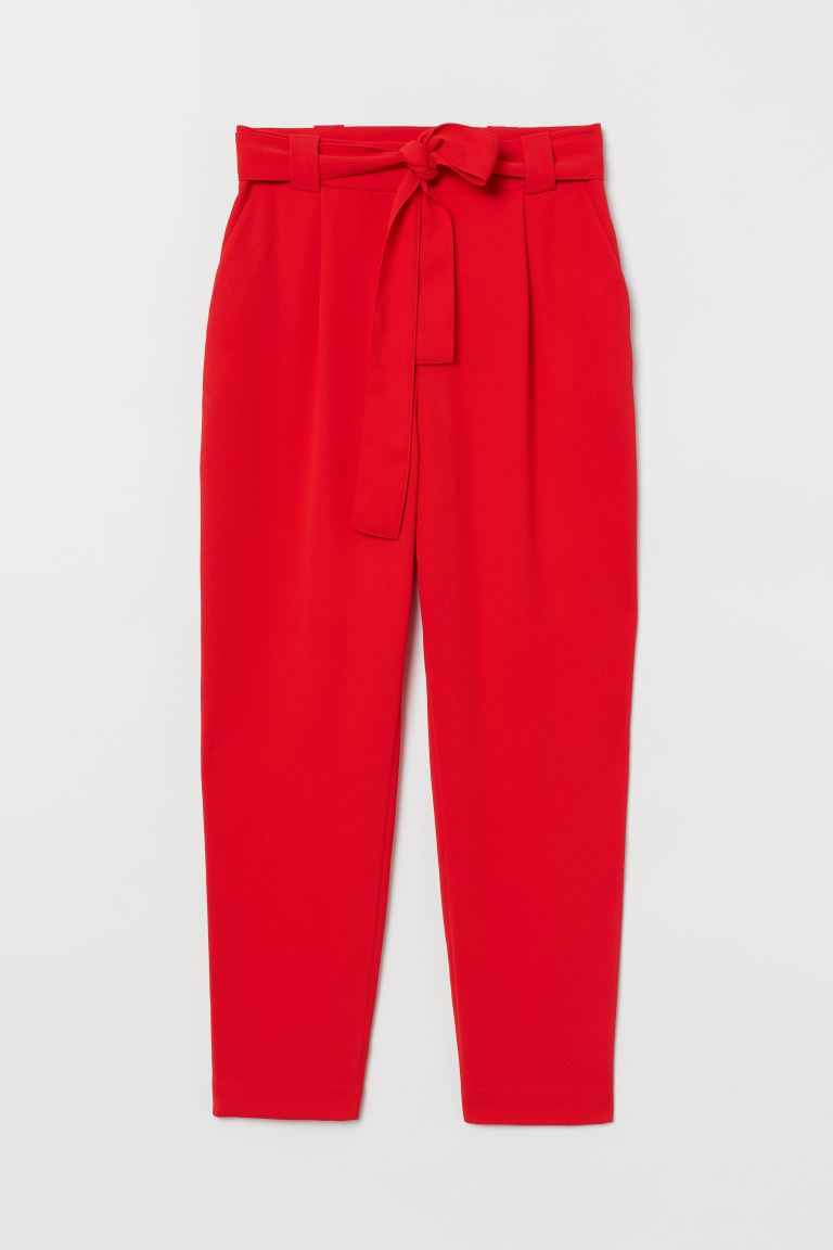 Ankle-length trousers - Red - Ladies | H&M GB